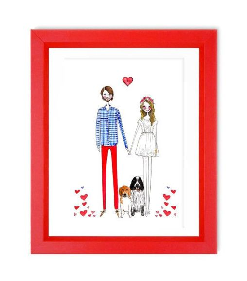 Custom illustration. A great personalized gift that you can cherish for years to come! via Pinterest