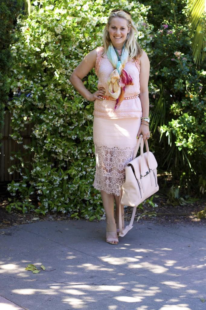 ASTR Rachel Zoe French Connection Peach on Peach Fashion Blogger Monochrome Outfit Ideas 7