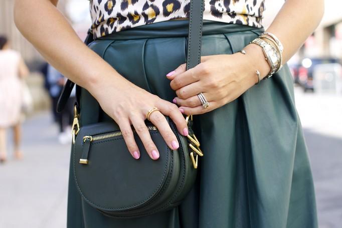 Animal print crop top-NYFW-tibi leather skirt-Schutz-Outfit inspiration 6