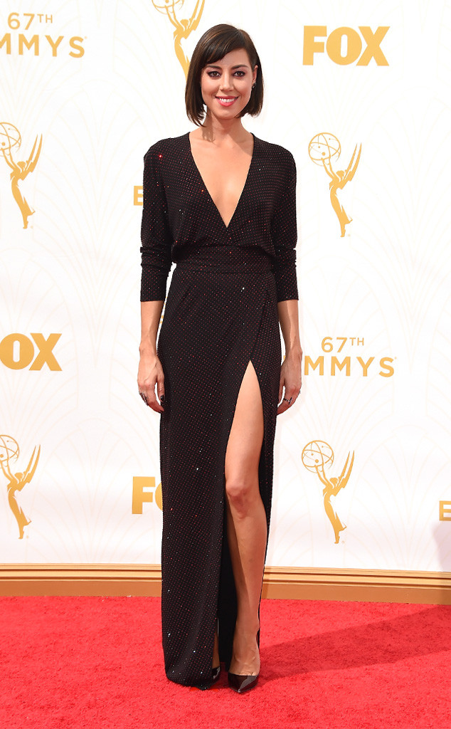 Aubrey Plaza-Alexandre Vauthier-Emmy's Red Carpet-2015 Emmys-Red Carpet Arrivals-Best Dressed