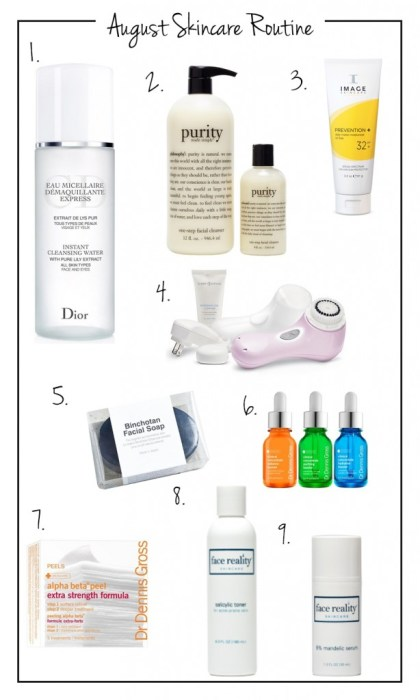 August Skincare Routine