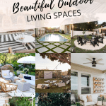 Beautiful outdoor spaces to help inspire you to elevate your outdoor living. #outdoorspaces #outdooroasis #outdoorliving