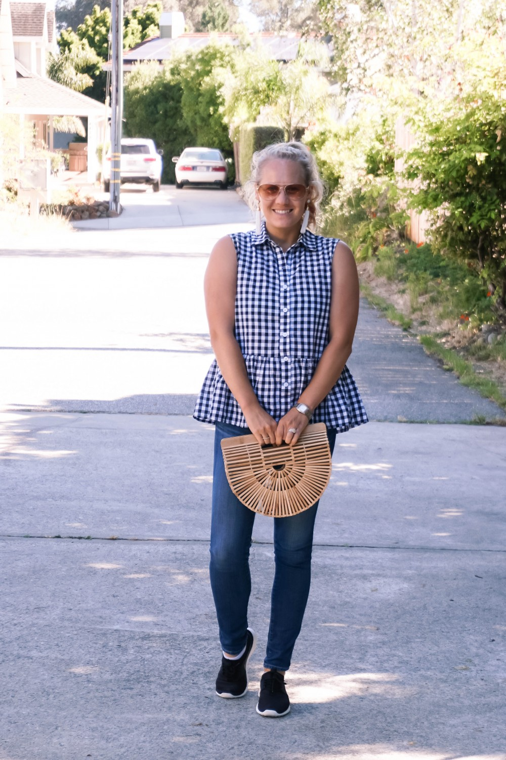 Blogger Off Duty-Daily Outfit Series-Have Need Want-Romwe Gingham Bow Top-Gingham Top-Summer Style-Mom Style-Stylish Moms-Outfit Inspiration 6