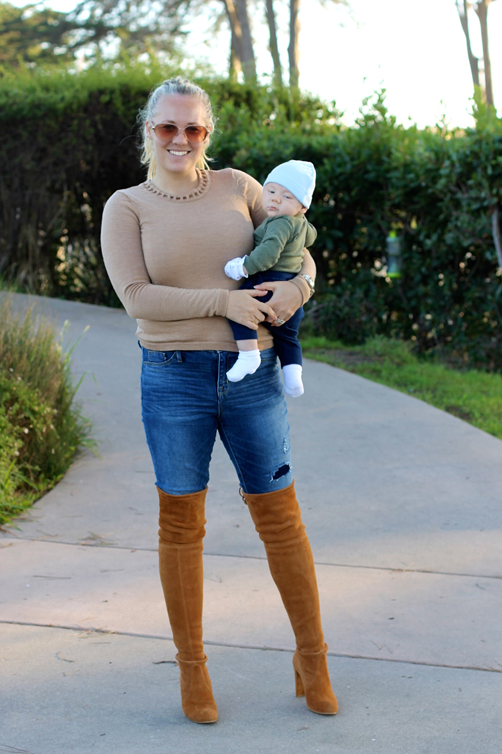 Camel Cut-Out Sweater-Outfit Inspiration-Mom Style-Have Need Want 12