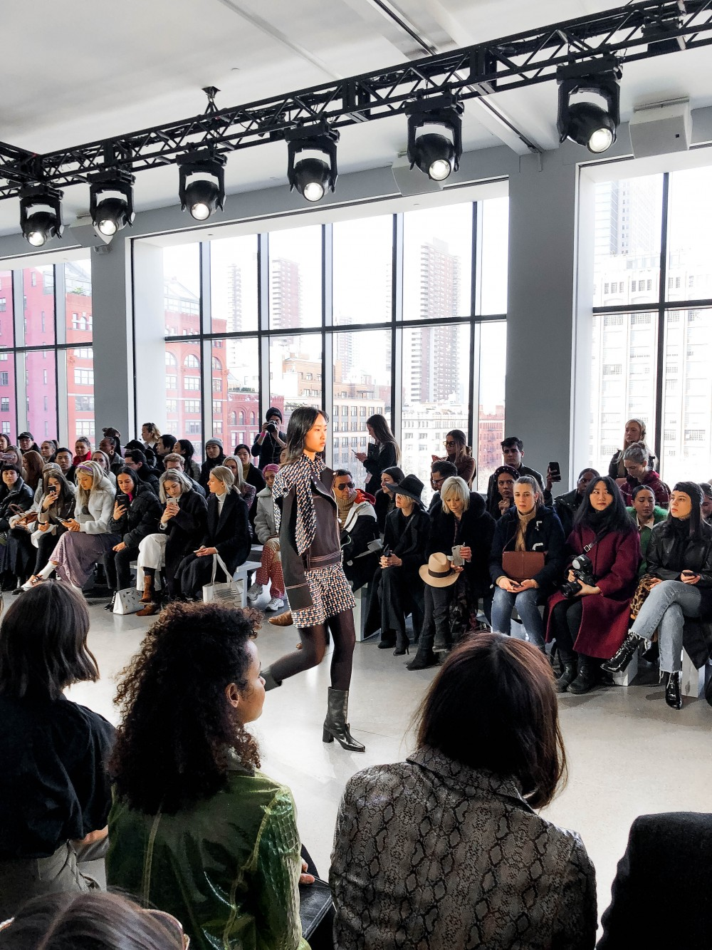 Claudia Li FW19 Runway Collection at NYFW. Click on the photo to check out the full post, get backstage access and see my favorite looks! #NYFW #ClaudiaLi #SpringStudios #Runway