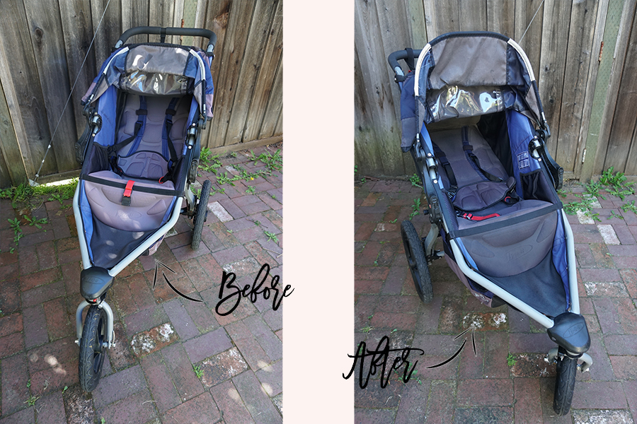 DIY Fabric Paint for BOB Jogging Stroller-Sun Faded Stroller DIY-Upholstery Paint-Weekend DIY 3