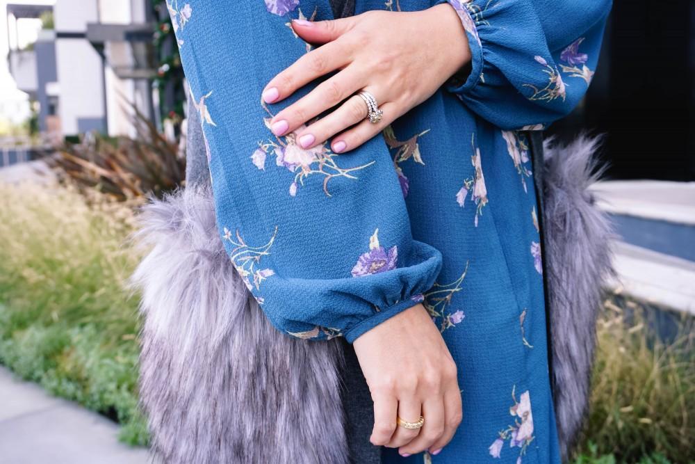 Floral Long Sleeve Shift Dress