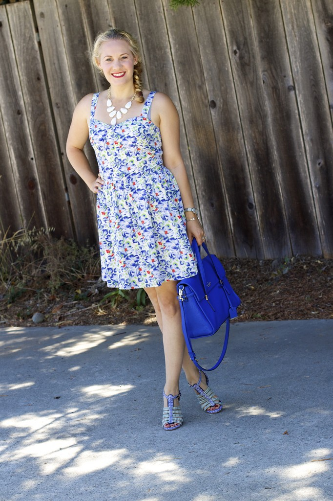 Floral Print Summer Dress Joie Clothing Summer Dress Kate Spade Fashion Blogger Summer Style 10