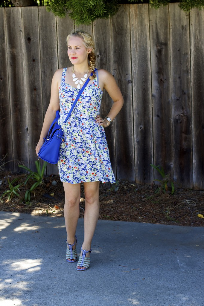 Floral Print Summer Dress Joie Clothing Summer Dress Kate Spade Fashion Blogger Summer Style 3