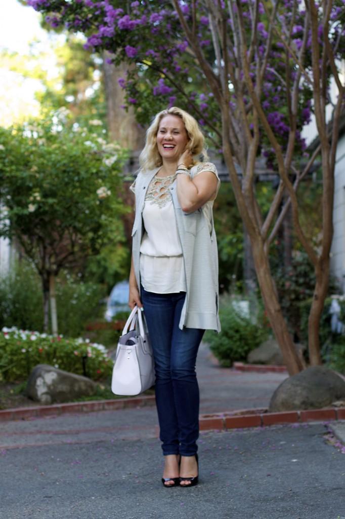 Free People Vest Miu Miu Patent Leather Peep-toe pumps Rebecca Minkoff Handbag Embellished top Fashion Blogger 4
