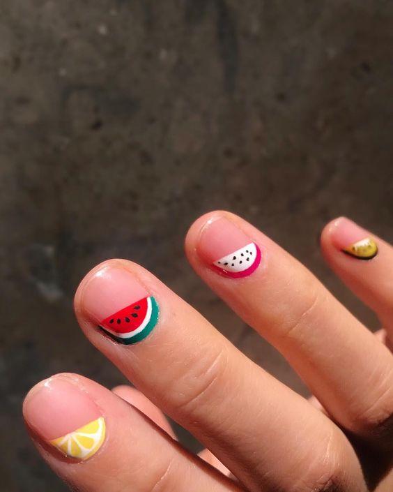 Fresh fruit nail art