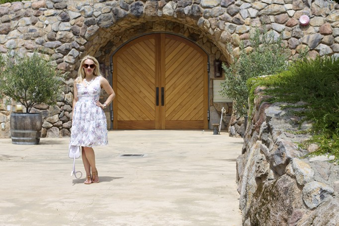 From day to night floral dress erin fetherston outfit inspiration fashion blogger 2