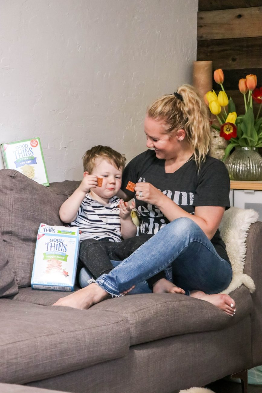 Make entertaining easy and snack time fun with GOOD THiNS Gluten-Free crackers! Head over to the blog to find out which flavors are a favorite in our household and why I choose GOOD THiNS Gluten-Free crackers. #GlutenFreeGOODTHiNS #IC #AD
