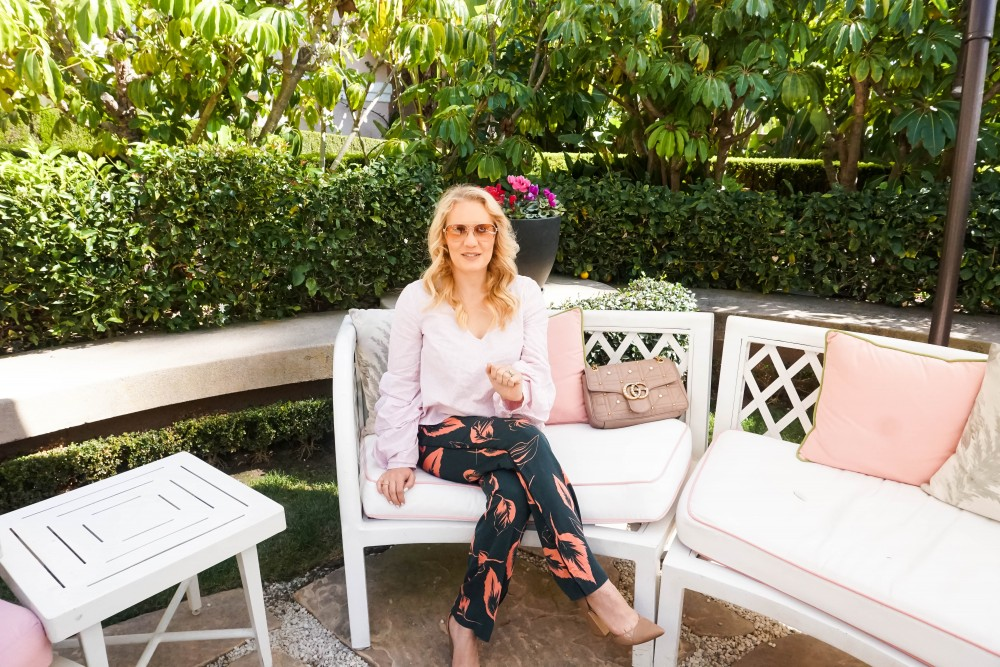 How to Mix Prints Like a Pro, Beverly Hills Hotel, Tropical Print Pants, Balloon Sleeve Blouse, Mom Style, Outfit Inspiration, Have Need Want