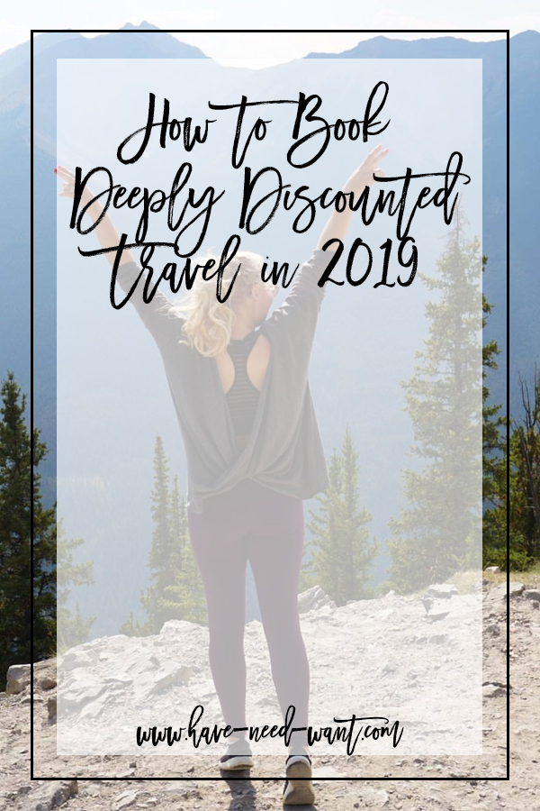 Today on Have Need Want I'm Sharing How to book deeply discounted travel in 2019. Click on the photo to read the post + find out how you can score yourself a buddy pass worth $100 to book your first trip! #travel #travelgoals #discounttravel #jifutravel #wanderlust