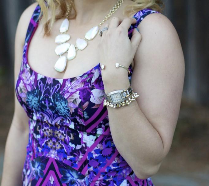 IMGeometric floral print dress