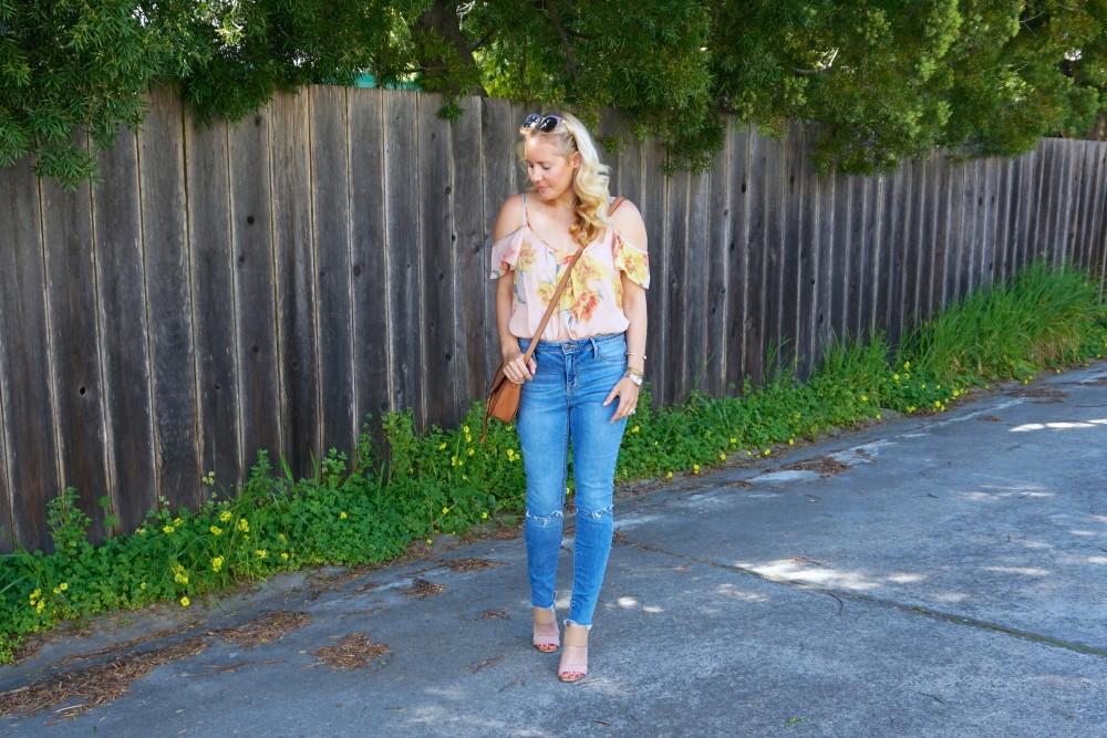 Joie Cold Shoulder Floral Blouse-Spring Style-Flutter Sleeve Blouse-Outfit Inspiration-Have Need Want 7