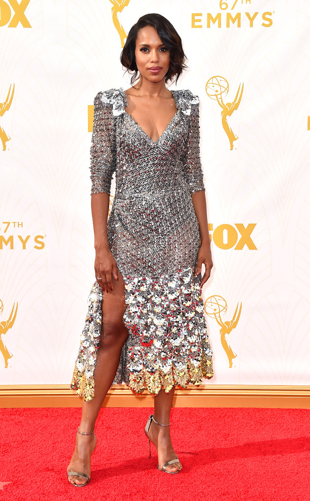 Kerry Washington-Marc Jacobs-Casedei heels-Emmy's Red Carpet-2015 Emmys-Red Carpet Arrivals-Best Dressed
