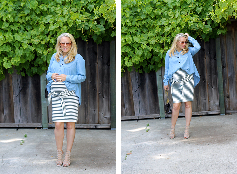Kingdom-&-State-Tie-Front-Skirt-Maternity-Style-Pregnancy-Style-Chambray-Top-Target-Style-Have-Need-Want