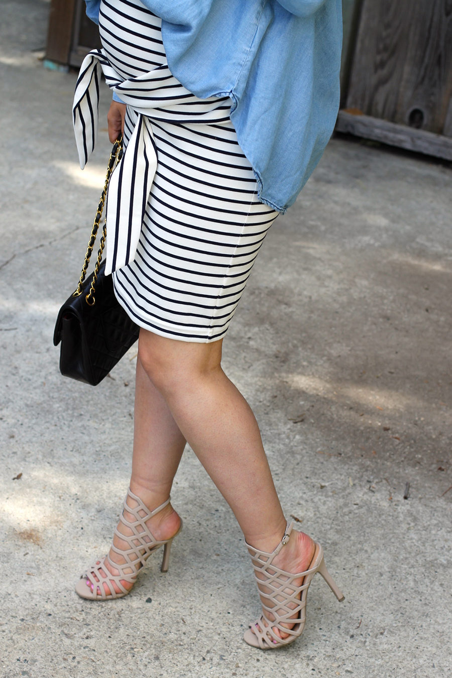 Kingdom & State-Tie Front Skirt-Maternity Style-Pregnancy Style-Chambray Top-Target Style-Have Need Want 5