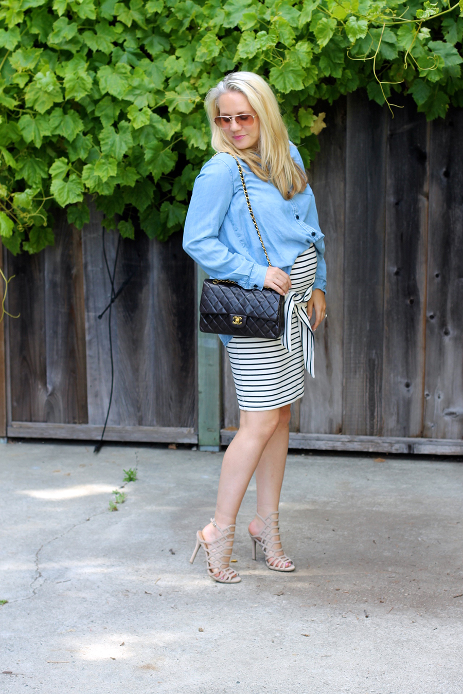 Kingdom & State-Tie Front Skirt-Maternity Style-Pregnancy Style-Chambray Top-Target Style-Have Need Want 8