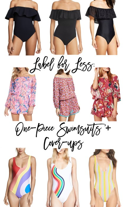 Label for Less: One-Piece Swimsuits and Cover-ups