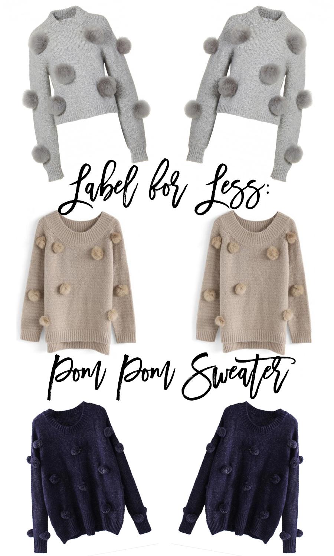 Label for Less Pom Pom Sweater, Pom Pom Trend, Fashion Trends, Tibi Pom Pom Sweater, Have Need Want