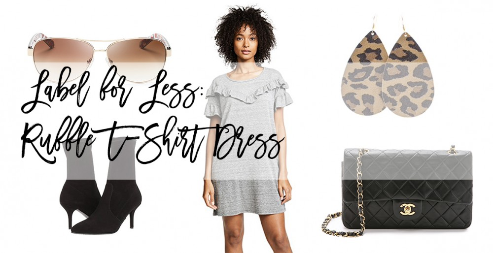 Label for Less: Ruffle T-Shirt Dress