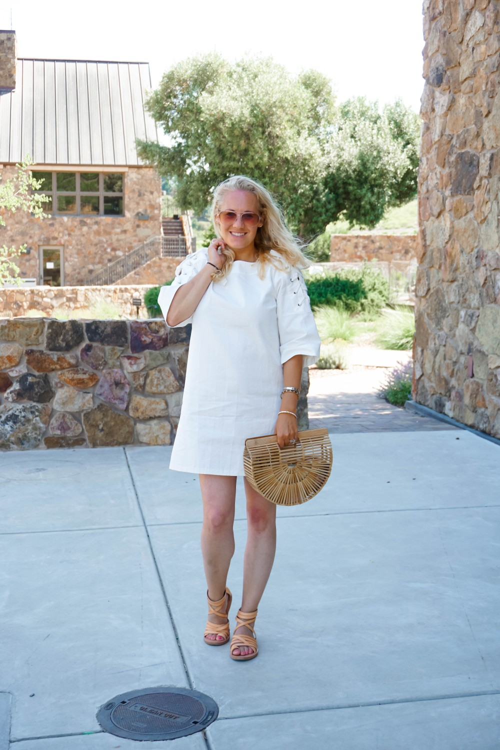 Lace-Up White Denim Dress-JOA Denim Dress-Summer Style-Bijou on the Park-Have Need Want-Outfit Inspiration-Mom Style 6