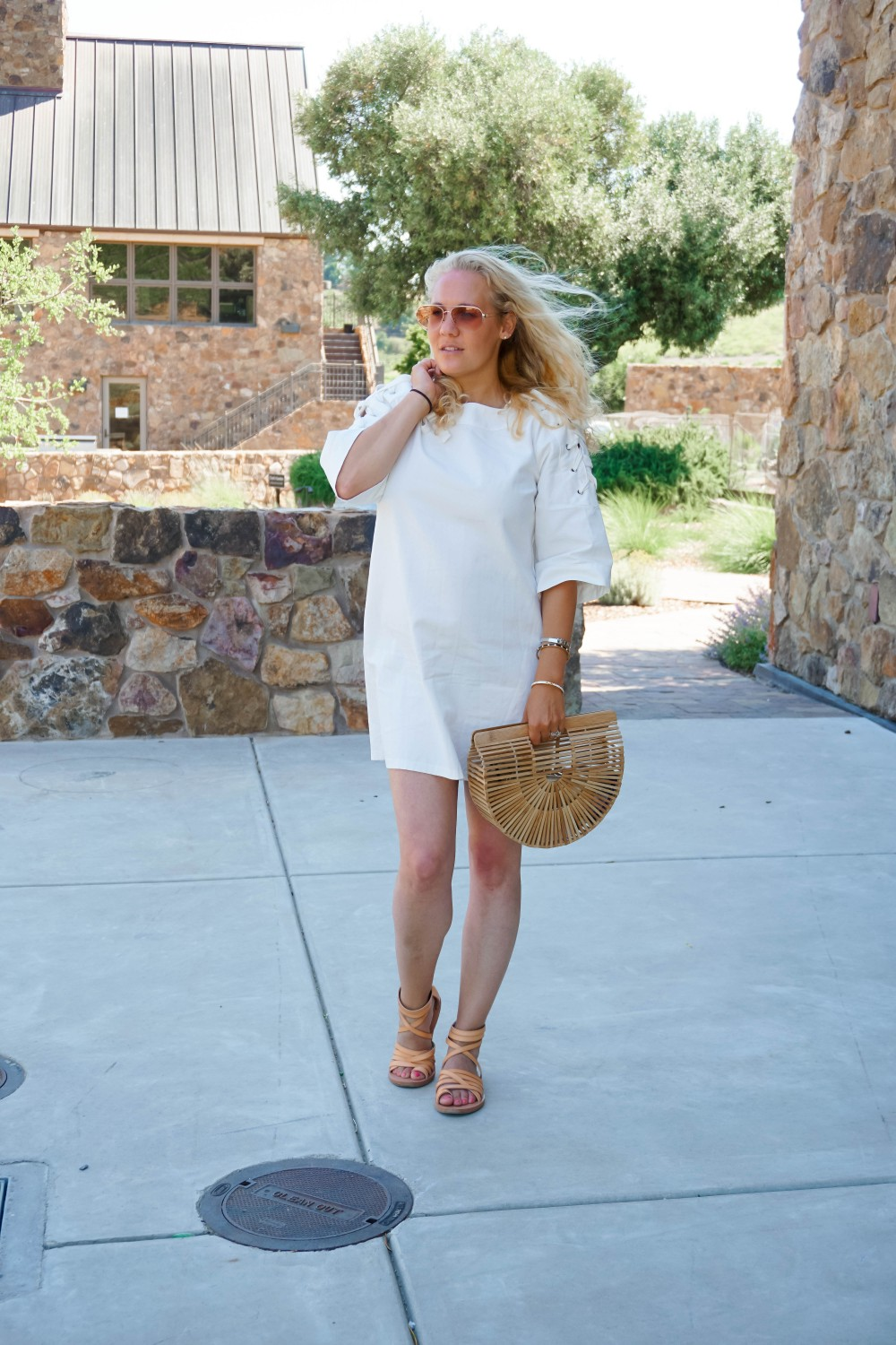 Lace-Up White Denim Dress-JOA Denim Dress-Summer Style-Bijou on the Park-Have Need Want-Outfit Inspiration-Mom Style 8