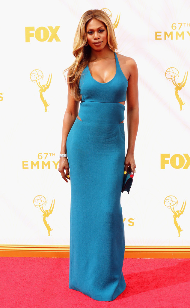 Laverne Cox-Calvin Klein Collection-Fred Leighton Jewelry-Emmy's Red Carpet-2015 Emmys-Red Carpet Arrivals-Best Dressed
