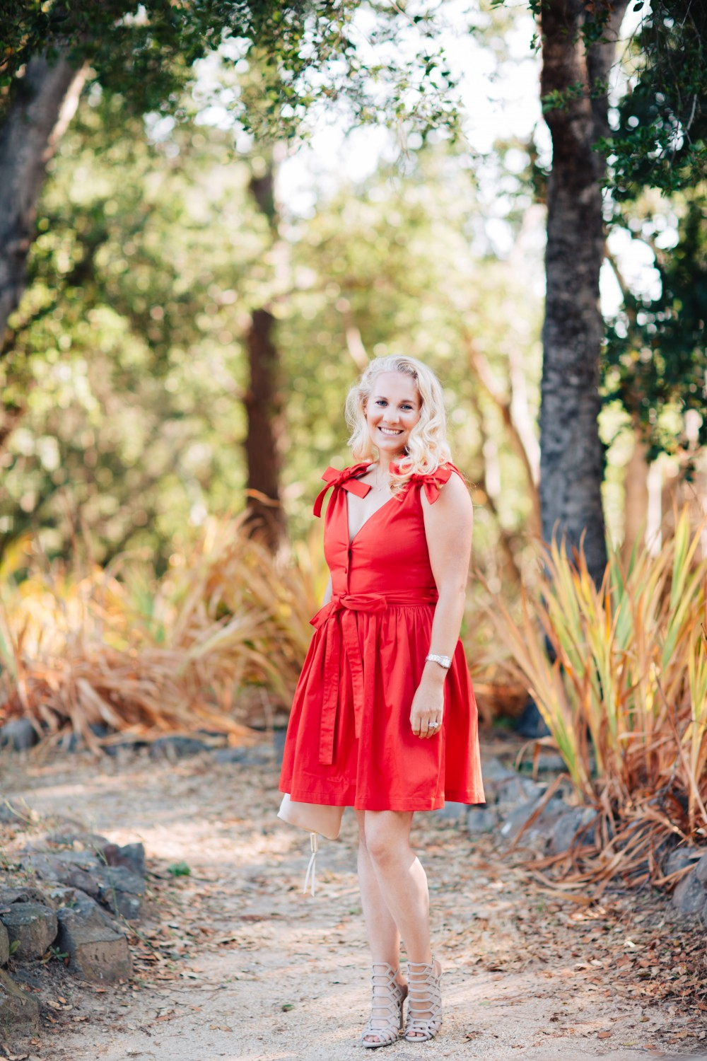 Little Red Dress-Alexis-Bow Detail Dress-Outfit Inspiration-Schutz Heels-Have Need Want 5
