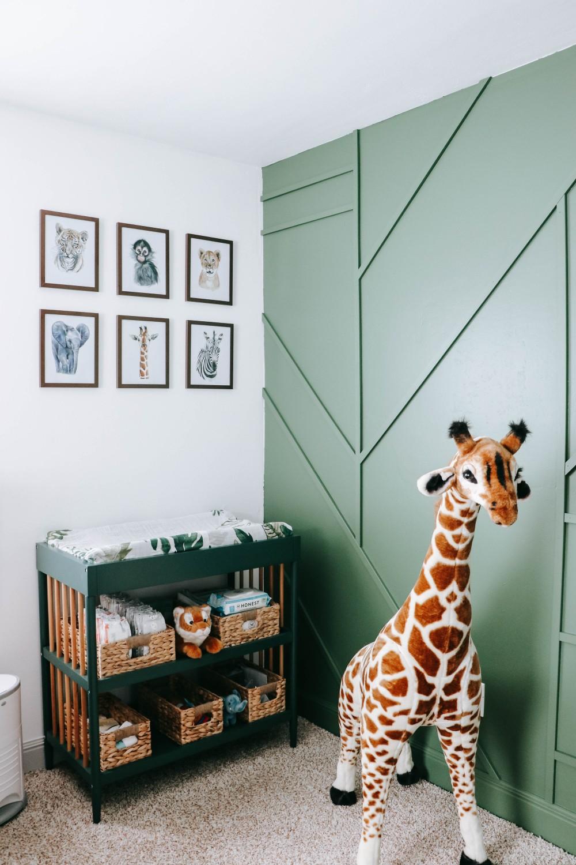 Mason on and Cooper's shared brother bedroom safari decor
