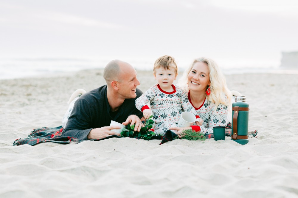 Wearing Matching Christmas Jammies at the Beach for a very California Christmas! - Have Need Want #matchingfamilyjammies #familyholidaytraditions #christmasatthebesch #burtsbeesbaby #burtsbeesfamilypajamas