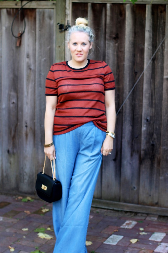 Memorial Day Outfit-Target Style-Who What Wear for Target-Maternity Style-Chambray Wide leg Pants-Have Need Want