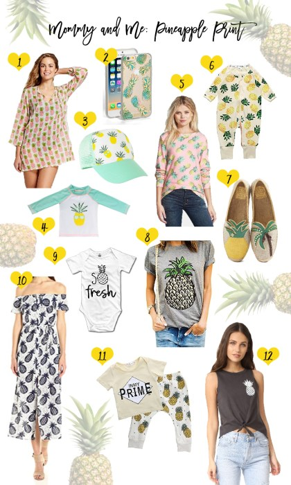 Mommy and Me: Pineapple Print