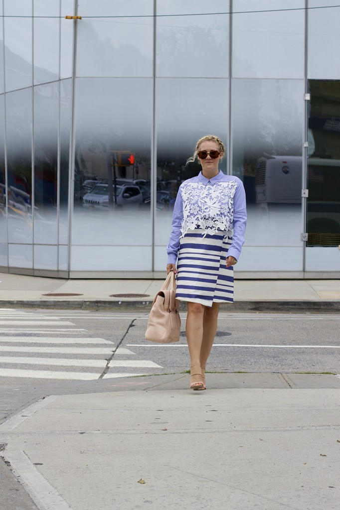 NYFW-Street Style-Fashion Blogger-Endless Rose-Topshop-Stripes and Lace-NYFW Day 3 Street Style 4