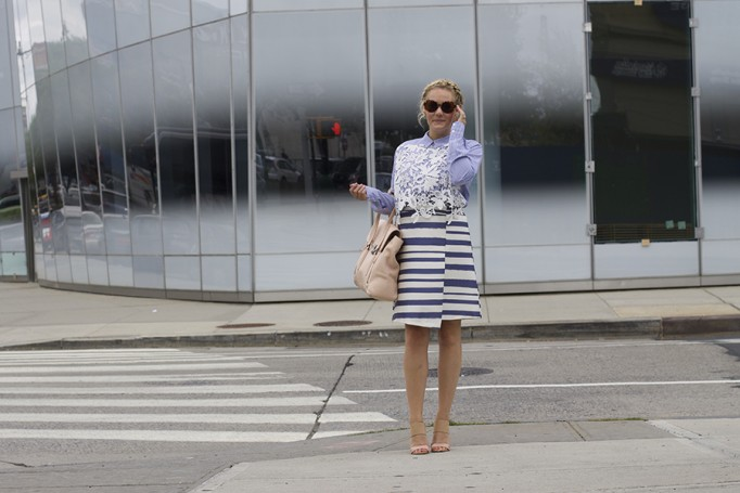 NYFW-Street Style-Fashion Blogger-Endless Rose-Topshop-Stripes and Lace-NYFW Day 3 Street Style 6