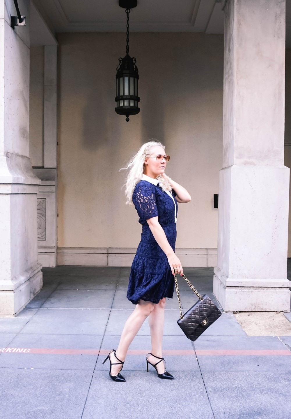 Navy Lace Dress-Draper James-Outfit Inspiration-Santana Row-Draper James Dress-Have Need Want 3