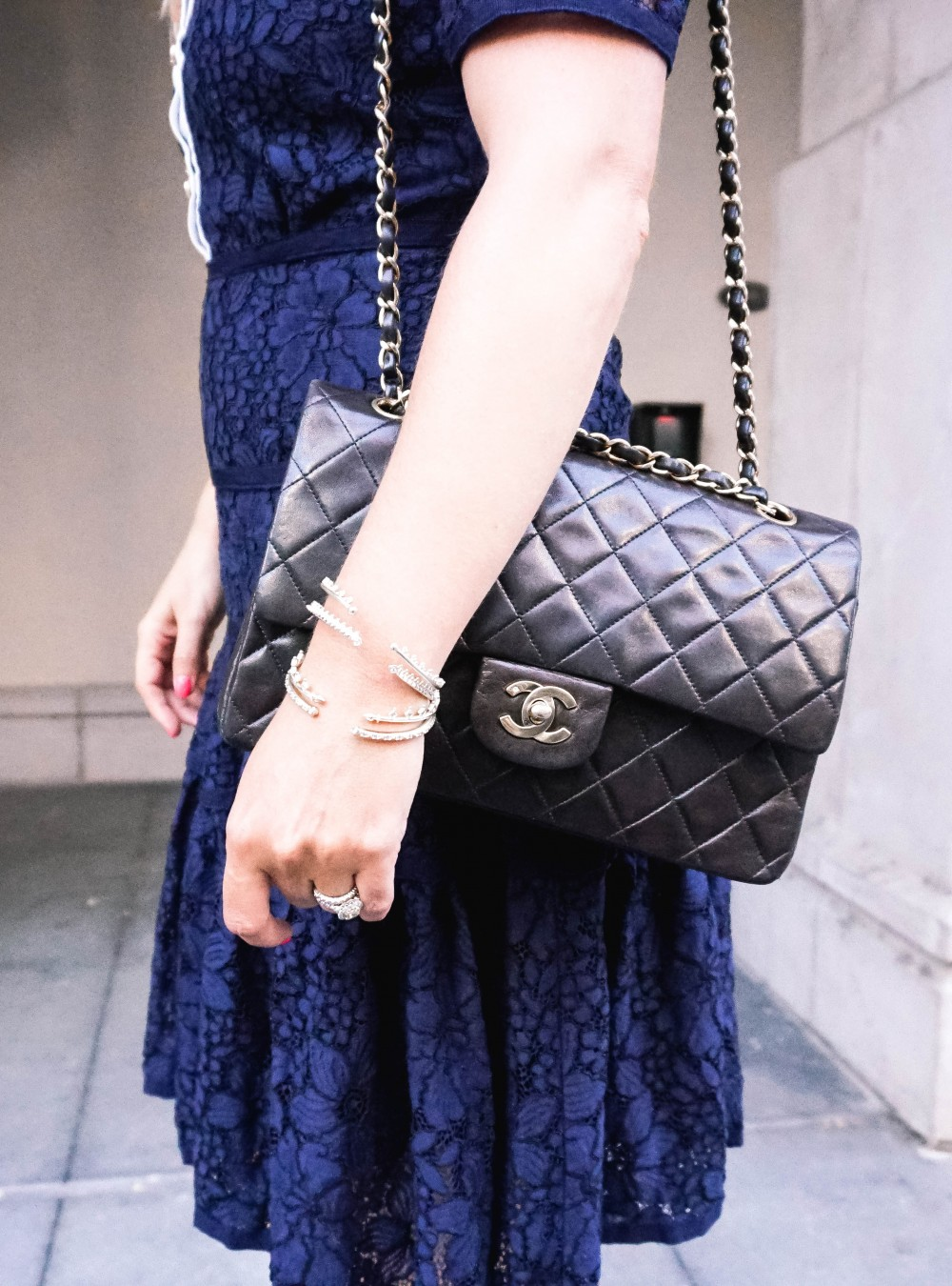 Navy Lace Dress-Draper James-Outfit Inspiration-Santana Row-Draper James Dress-Have Need Want 4