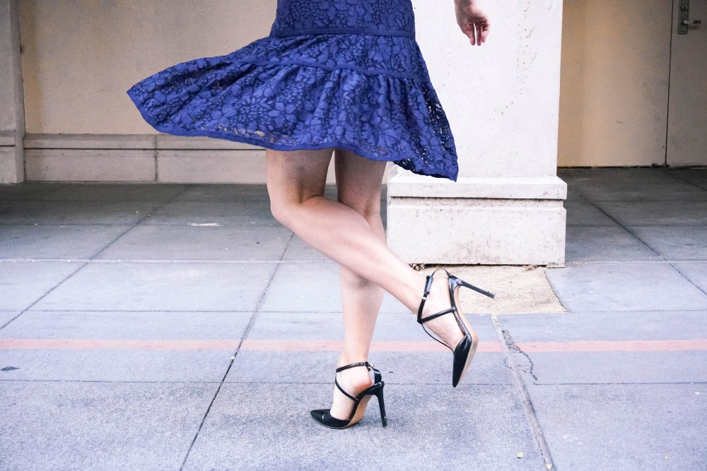 Navy Lace Dress-Draper James-Outfit Inspiration-Santana Row-Draper James Dress-Have Need Want 9