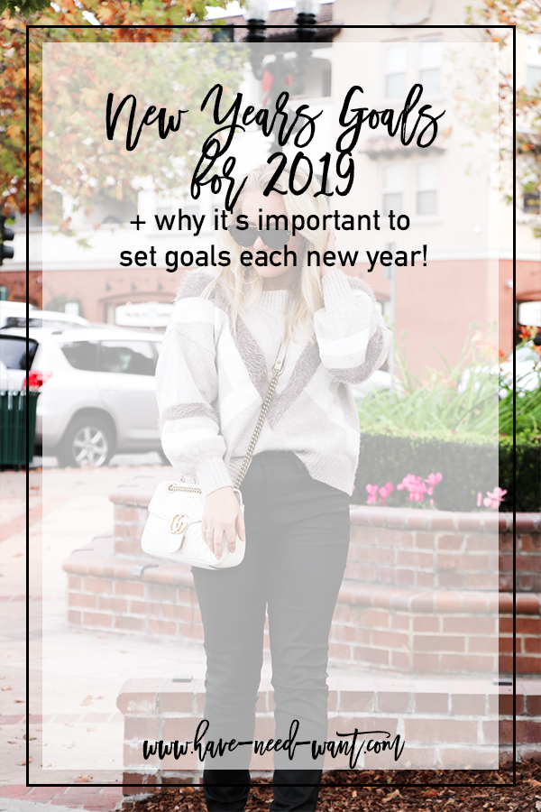 New Years Goals for 2019 and Why It's Important to Set Goals Each New Year | Have Need Want #NewYear2019 #NewYearsGoals #NewYearsResolutions