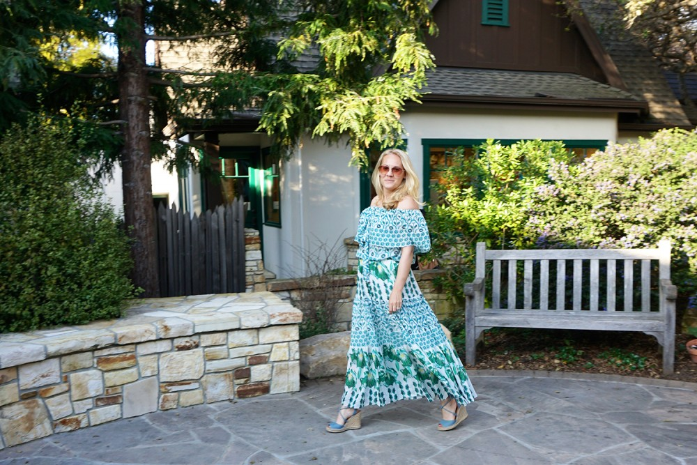 Off The Shoulder Maxi Dress-Temperley London-Outfit Inspiration-Wine Tasting-Visit Carmel by the Sea-Have Need Want 8