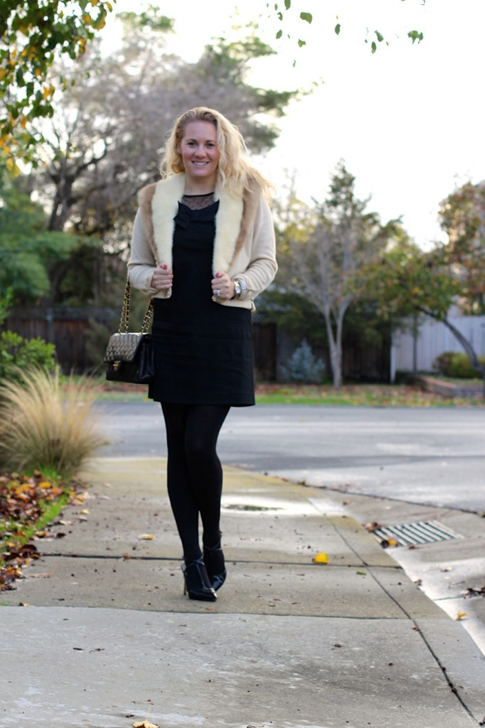 Outfit Inspiration-Holiday Style-Kate Spade Bow Dress-Chanel Classic Flap-Christmas Outfit 12