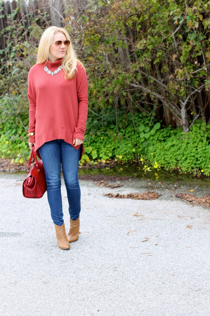 Oversized Turtleneck-Casual Style-Bay Area Fashion Blogger-Madison & Berkeley-Nordstrom-Kate Spade Sunglasses-Rocksbox-Statement Necklace 10