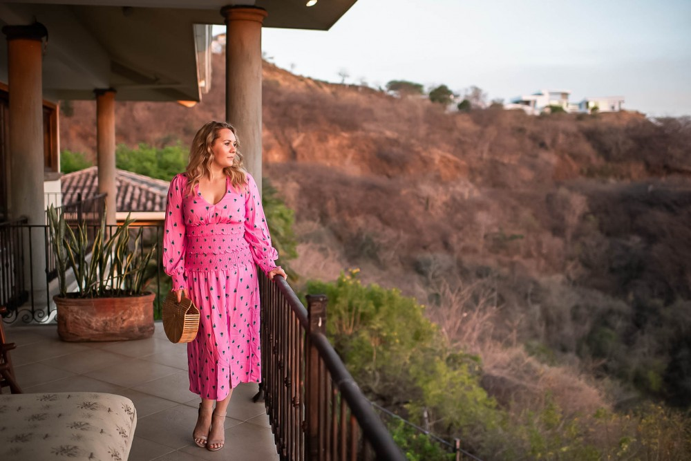 Pretty in pink! The perfect wedding season waist cinching dress is on Have Need Want. Click on the photo to check out the post plus get my outfit details! #weddingseason #weddingguestdress #AFRM #springstyle #outfitinspiration #springdress