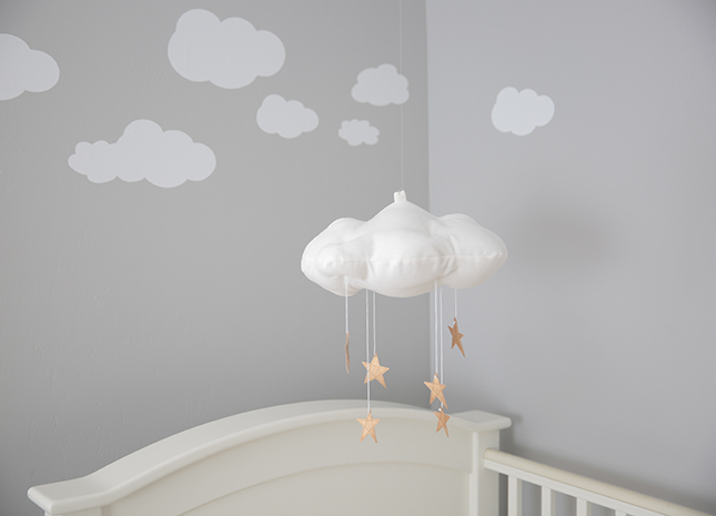 Baby Boy Nursery, Gender Neutral Nursery, Cloudy Sky Nursery, Modern Nursery