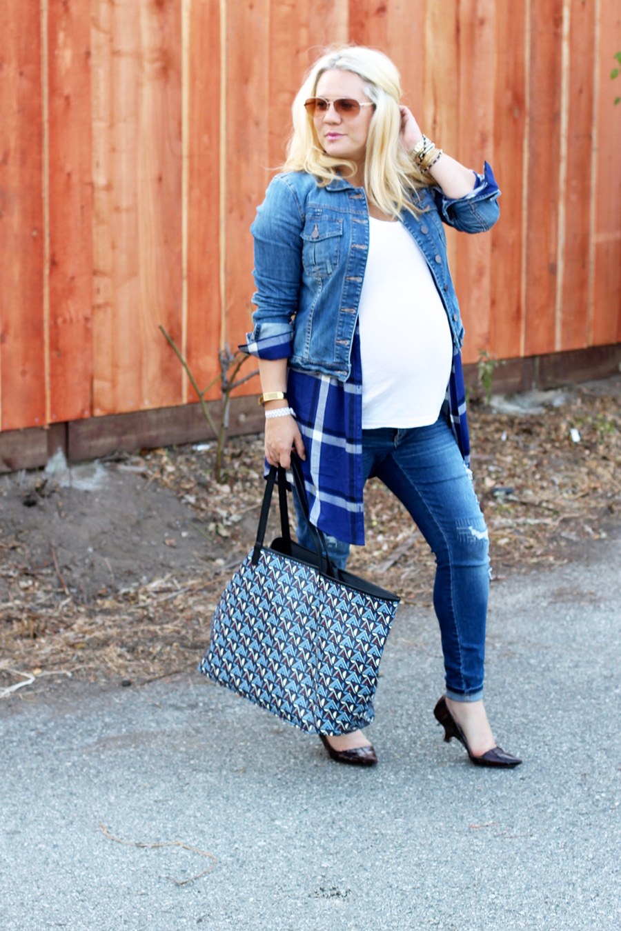 Plaid Shirtdress-Maternity Style-Styling Your Baby Bump-Styling Tips-Pregnancy Style-Have Need Want 8