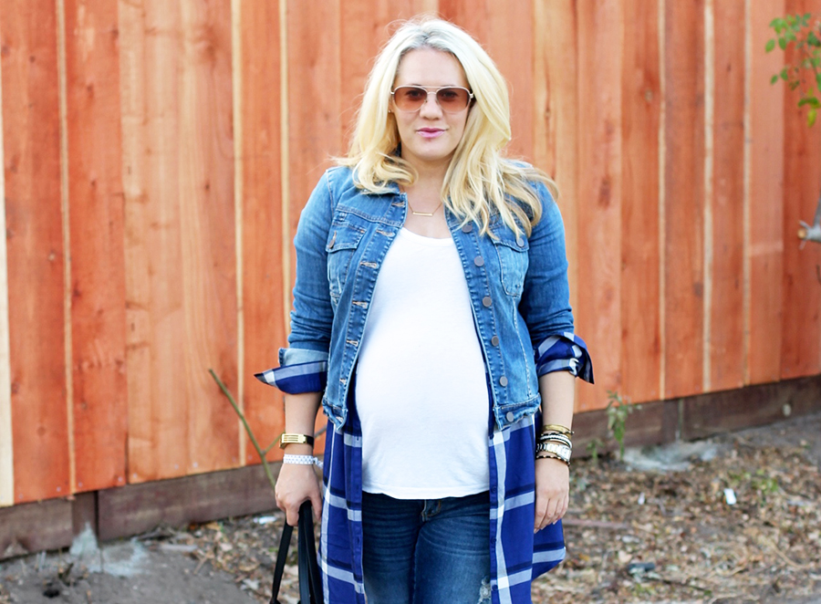 Plaid Shirtdress-Maternity Style-Styling Your Baby Bump-Styling Tips-Pregnancy Style-Have Need Want 9