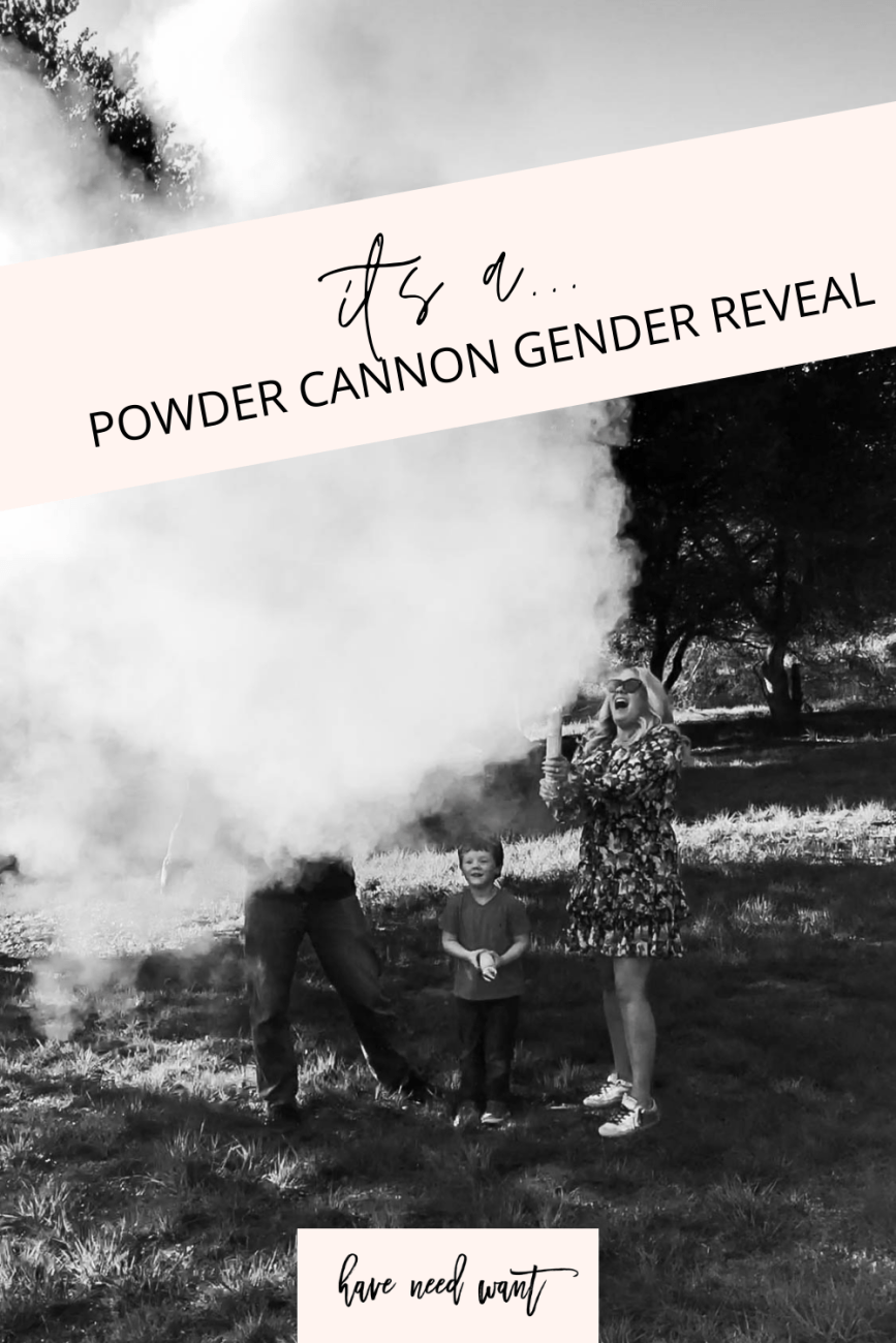 Powder cannon gender reveal. It's a... #genderreveal